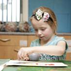 Girl doing art